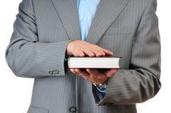 książkowej ręki odosobniony biel Zdjęcie Royalty Free