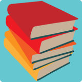 Książkowej sterty ikona Fotografia Stock