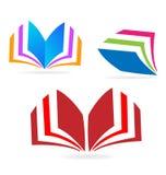 Książkowi czytelniczy ikona sety royalty ilustracja
