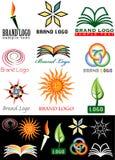 książkowi logo Obrazy Stock