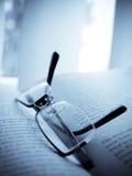 książkowi szkła Fotografia Stock