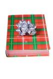 książkowy łęku bożych narodzeń kolorów srebro Zdjęcie Royalty Free
