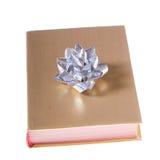 książkowy łęku złota srebro zawijający Obraz Stock