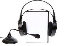 Książkowy audio CD, na biel DVD skrzynka Zdjęcia Stock