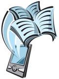 książkowy cyfrowy czytelnik Fotografia Royalty Free