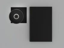 Książkowy czarny mockup na szarej skórze Obrazy Stock