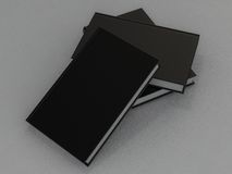 Książkowy czarny mockup na szarej skórze Obraz Stock