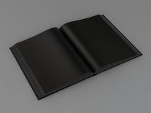Książkowy czarny mockup na szarej skórze Fotografia Stock