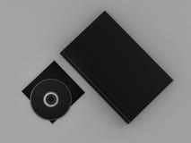 Książkowy czarny mockup na szarej skórze Zdjęcia Stock