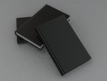 Książkowy czarny mockup na szarej skórze Obrazy Royalty Free