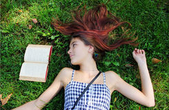 Książkowy czytelnik Fotografia Royalty Free