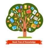 Książkowy drzewo wiedza i czytanie ilustracji
