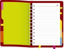 książkowy dzienniczek Obrazy Royalty Free