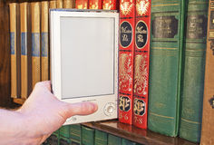 książkowy elektroniczny Zdjęcie Royalty Free