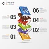 Książkowy infographic szablon nowożytny biznesowy pojęcie wektor Zdjęcie Stock