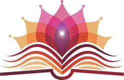 Książkowy joga logo ilustracja wektor
