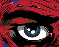 książkowy komiczny oko Obrazy Stock