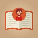 Książkowy literatura czytelniczego mężczyzna modniś ilustracji