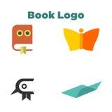 Książkowy loga szablon Zdjęcia Stock
