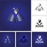 Książkowy logo Zdjęcie Royalty Free