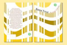 Książkowy okładkowy szablon, kolor żółty i biel, Obrazy Royalty Free