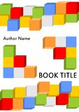 Książkowy okładkowy szablon w nowożytnym projekcie z barwionym kostka do gry zestawem łączył w różnym Obrazy Stock