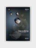 Książkowy Okładkowy szablon z futurystycznymi niskimi poli- skałami Obraz Stock
