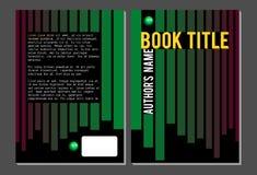 Książkowy okładkowy szablon, zieleń i czerwone linie, Obrazy Royalty Free
