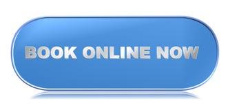 Książkowy online guzik teraz royalty ilustracja