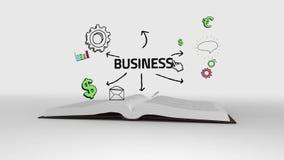 Książkowy otwarcie show biznes brainstorm royalty ilustracja