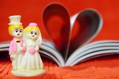 książkowy pary serca modela ślub Obrazy Royalty Free