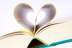 książkowy serce Obraz Stock