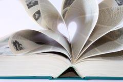 książkowy serce Zdjęcia Royalty Free