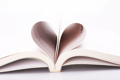 Książkowy serce Zdjęcie Royalty Free