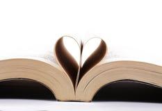 Książkowy serce Obraz Royalty Free