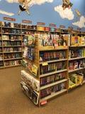 Książkowy sklep, sekcja dla dzieciaki fotografia stock