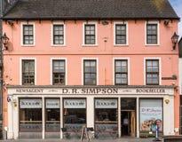 Książkowy sklep Wick, Szkocja Obrazy Royalty Free