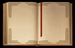 książkowy stary rozpieczętowany Obrazy Royalty Free