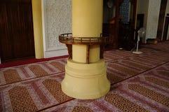 Książkowy stojak przy Masjid Jubel Perak sułtanu Ismail Petra a K A Masjid Pekin obrazy stock