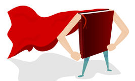 Książkowy super bohater Obraz Stock