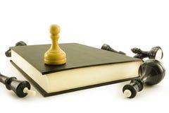 książkowy szachy Obrazy Royalty Free