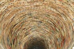 Książkowy tunel w Praga bibliotece Obrazy Stock