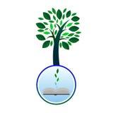 Książkowy wiedzy drzewo - ilustracja Zdjęcie Stock