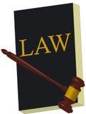 KSIĄŻKOWA prawa i młota sprawiedliwość Zdjęcie Stock