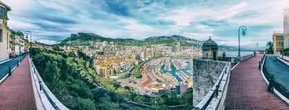 Ksiąstewko Monaco, Francuski Riviera wybrzeże, Cote d ` Azur, Francja obraz royalty free