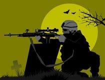 Księżyc żołnierze Obraz Royalty Free