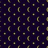 Księżyc bezszwowy deseniowy tło Zdjęcia Royalty Free