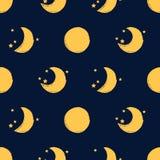 Księżyc bezszwowy wzór Zdjęcia Royalty Free