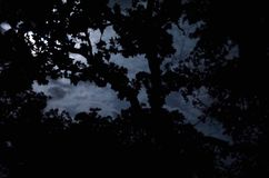 księżyc chmurna zdjęcia stock