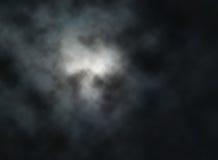 Księżyc chmury royalty ilustracja